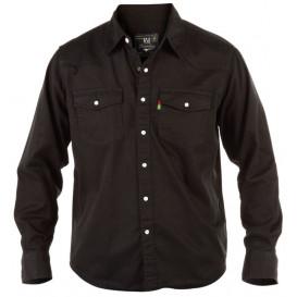 DUKE košile pánská KS1024 Western Style Denim Shirt riflová nadměrná velikost