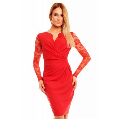 KARTES MODA šaty dámské KM56K s obálkovým výstřihem