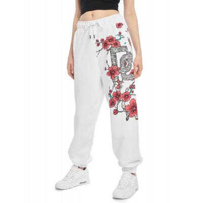 Dangerous DNGRS kalhoty dámské Sweat Pant Choice in white tepláky