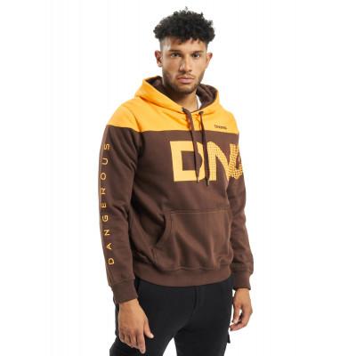 Dangerous DNGRS / Hoodie Gino in brown