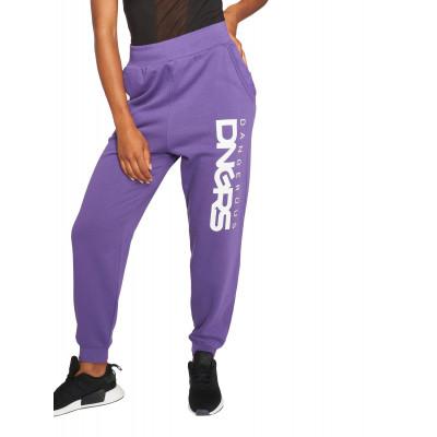 Dangerous DNGRS / Sweat Pant Soft Dream Leila Ladys Logo in purple