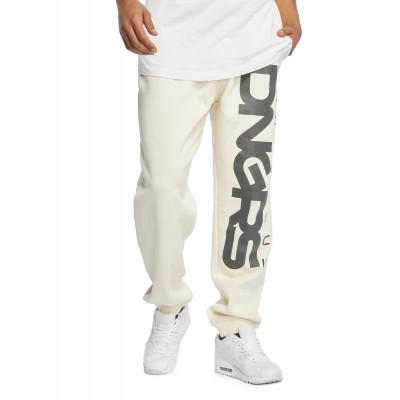 Dangerous DNGRS kalhoty pánské Sweat Pant Classic in white