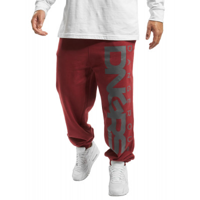 Dangerous DNGRS kalhoty pánské Sweat Pant Classic in red