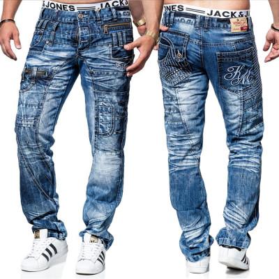 KOSMO LUPO kalhoty pánské KM020 jeans džíny