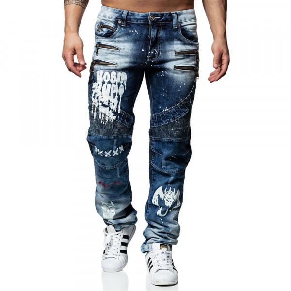 KOSMO LUPO kalhoty pánské KM164 jeans džíny