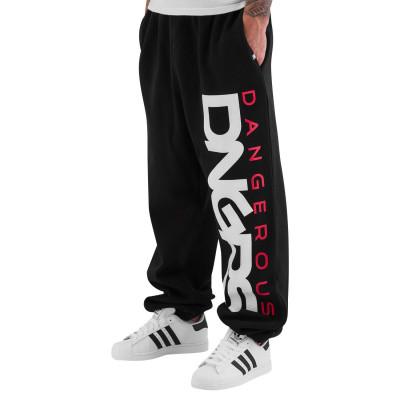Dangerous DNGRS kalhoty pánské Sweat Pant Classic in black tepláky