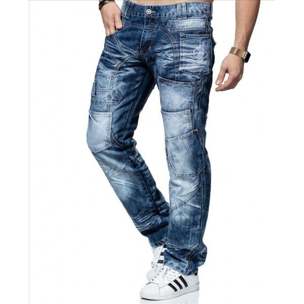 KOSMO LUPO kalhoty pánské KM120 jeans džíny