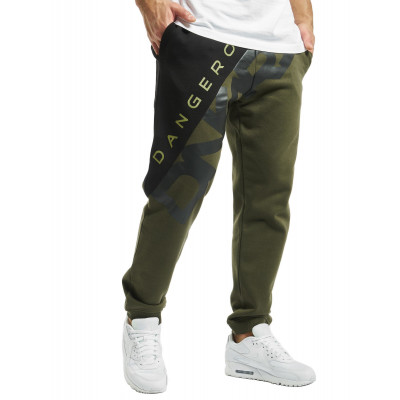 Dangerous DNGRS kalhoty pánské Sweat Pant Pivot in olive