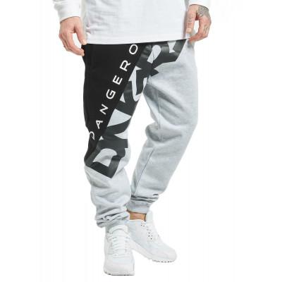 Dangerous DNGRS kalhoty pánské Sweat Pant Pivot in grey tepláky nadměrná velikost