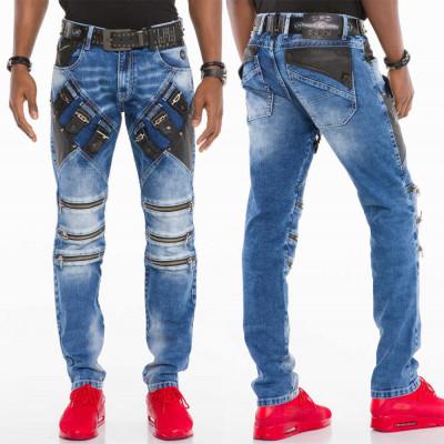 CIPO & BAXX kalhoty pánské CD461 slim fit L:34