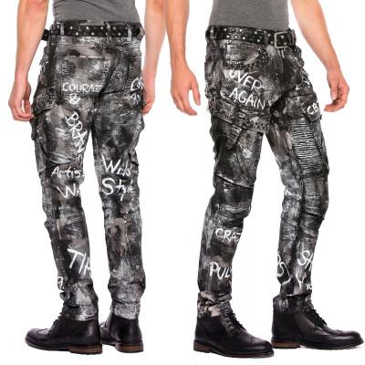 CIPO & BAXX kalhoty pánské CD572 regular slim fit L:34 jeans džíny