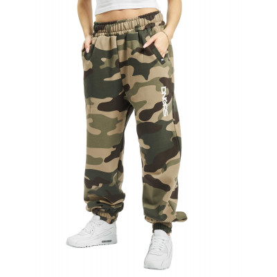 Dangerous DNGRS / Sweat Pant Soft Dream Leila Ladys Logo in camouflage