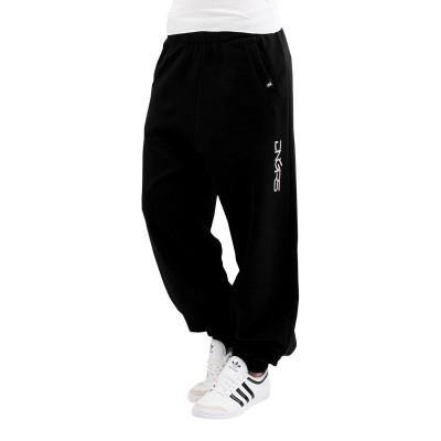 DANGEROUS DNGRS kalhoty dámské tepláky Soft Dream Leila Ladys Logo Sweat Pants Black/White