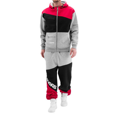 Dangerous DNGRS Sweat Suit Grey/Black/Red
