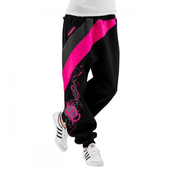 Dangerous DNGRS Skull Sweatpants Black/Pink