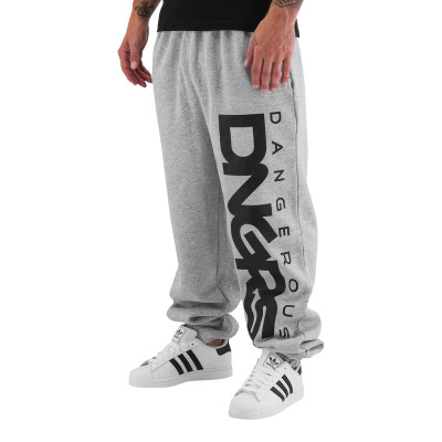 Dangerous DNGRS Classic Sweat Pants Grey Melange