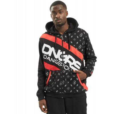 Dangerous DNGRS / Zip Hoodie Bear in black