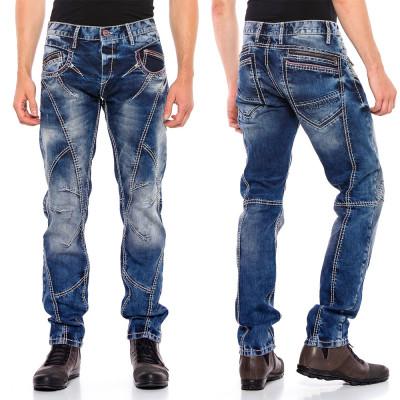 CIPO & BAXX kalhoty pánské CD563 regular slim fit L:34 jeans džíny