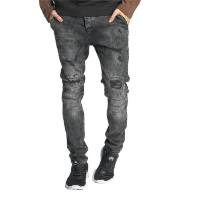 Just Rhyse Destroyed Straight Fit Jeans Grey