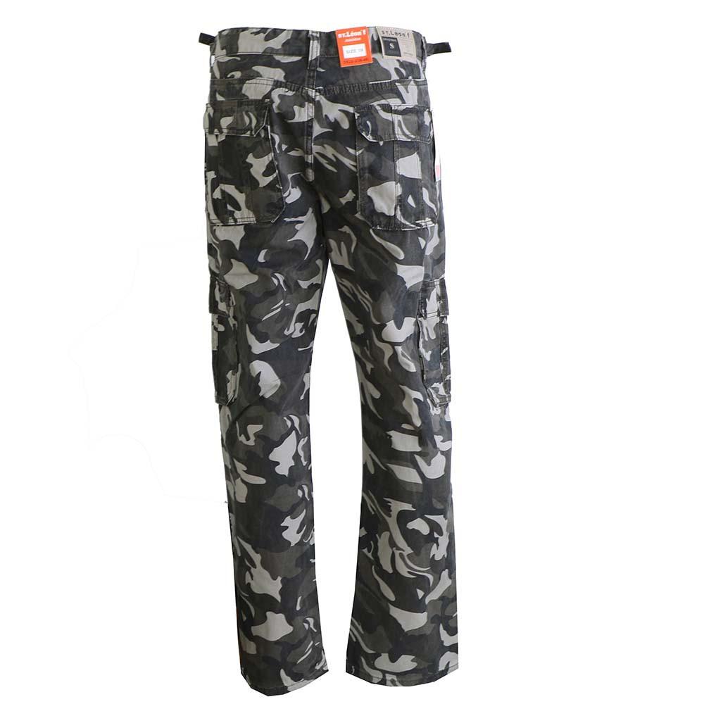 ST. LEONF kalhoty pánské DS20-3 kapsáče nadměrná velikost maskáče ... f4e6c8031a