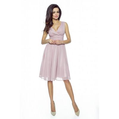 KARTES MODA šaty dámské KM117 šifon obálkový výstřih