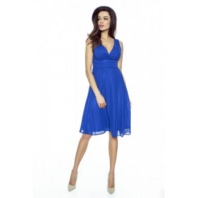 KARTES MODA šaty dámské KM117-5 šifon obálkový výstřih