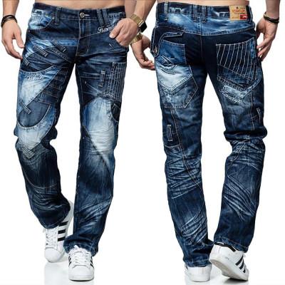 KOSMO LUPO kalhoty pánské KM130 jeans džíny