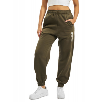 Dangerous DNGRS / Sweat Pant Soft Dream Leila Ladys Logo in olive
