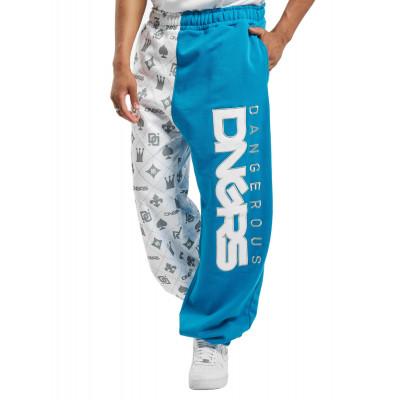 Dangerous DNGRS kalhoty pánské Sweat Pant Half Crown & King in white