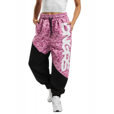 Dangerous DNGRS / Sweat Pant RosaWeed in black
