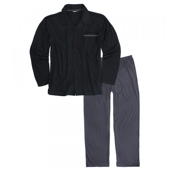 ADAMO pyžam pánské BENNO rozepínací nadměrná velikost