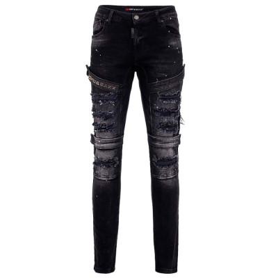 CIPO & BAXX kalhoty pánské CD555 black L32 slim fit