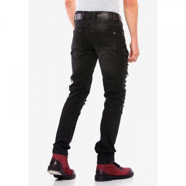 CIPO & BAXX kalhoty pánské CD555 black L32