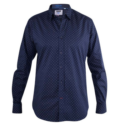 D555 košile pánská AUGUSTA dlouhý rukáv nadměrná velikost