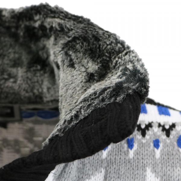 CARISMA svetr pánský 7011 límes s kožíškem zapínání na knoflíky