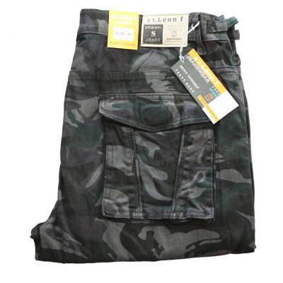 ST. LEONF kalhoty pánské DS18-5 kapsáče nadměrná velikost maskáče