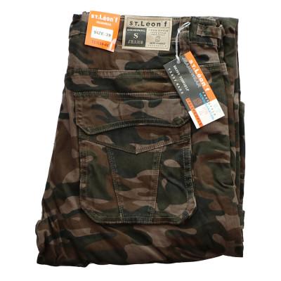 ST. LEONF kalhoty pánské TC3 kapsáče nadměrná velikost maskáče