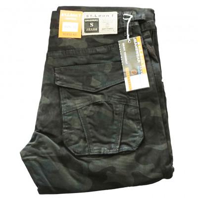 ST. LEONF kalhoty pánské TC2 kapsáče nadměrná velikost maskáče