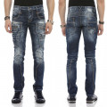 CIPO & BAXX kalhoty pánské CD584 slim fit L:32 jeans džíny