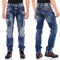 CIPO & BAXX kalhoty pánské CD563 regular slim fit L:32 jeans džíny