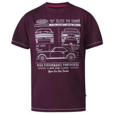 D555 tričko pánské BRADY Classic Cars Crew Neck