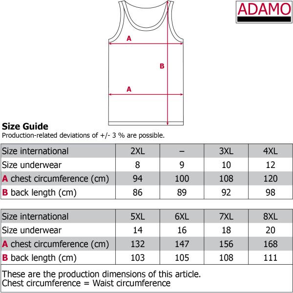 ADAMO tílko pánské ROYALv nadměrných velikostech