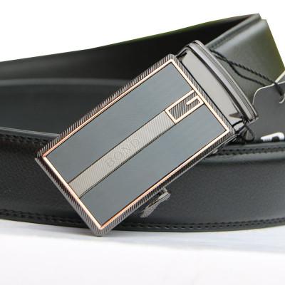 BOND pásek pánský kožený B10 automatická spona 1 šířka 3,5 cm