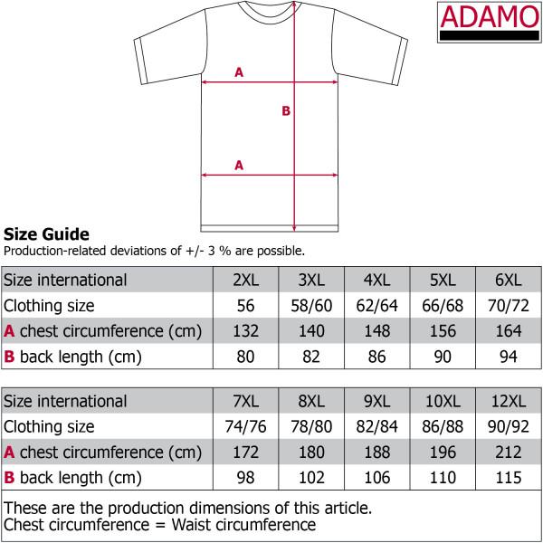 ADAMO polokošile pánská MARIUS Comfort Fit nadměrná velikost