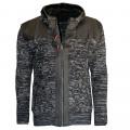 CARISMA svetr pánský 7293 zapínaní na zip s kapucí