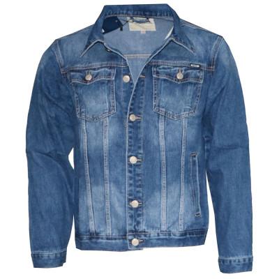 SAROL bunda pánská riflová džíska nadměrná velikost