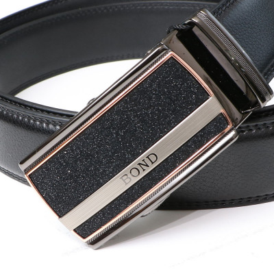 BOND pásek pánský kožený B14 automatická spona 1 šířka 3,5 cm