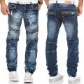 KOSMO LUPO kalhoty pánské KM136 jeans džíny zipy