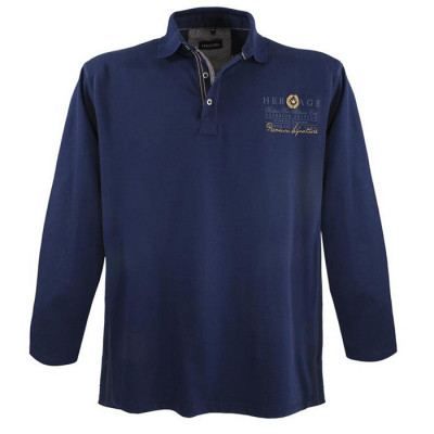LAVECCHIA tričko pánské FL-7102 dlouhý rukáv nadměrná velikost