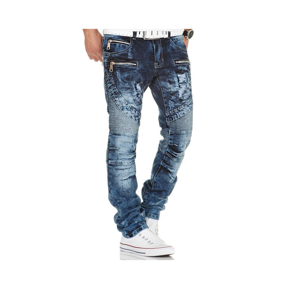 KOSMO LUPO kalhoty pánské KM139 jeans džíny - DG-SHOP.CZ 3c4f3be603